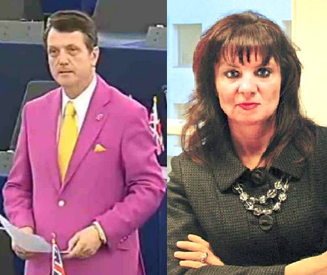 Gerard Batten MEP and the founder of Christian Concern, Andrea Minichiello Williams, who believes that the earth is 4,000 years old.