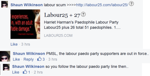 A UKIP supporter tries to divert attention on to another party.