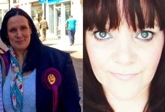 UKIP PPCs Caroline Santos (left) and Sharon McGonigal